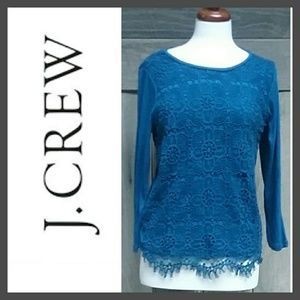 Jcrew Teal Lace Size Medium
